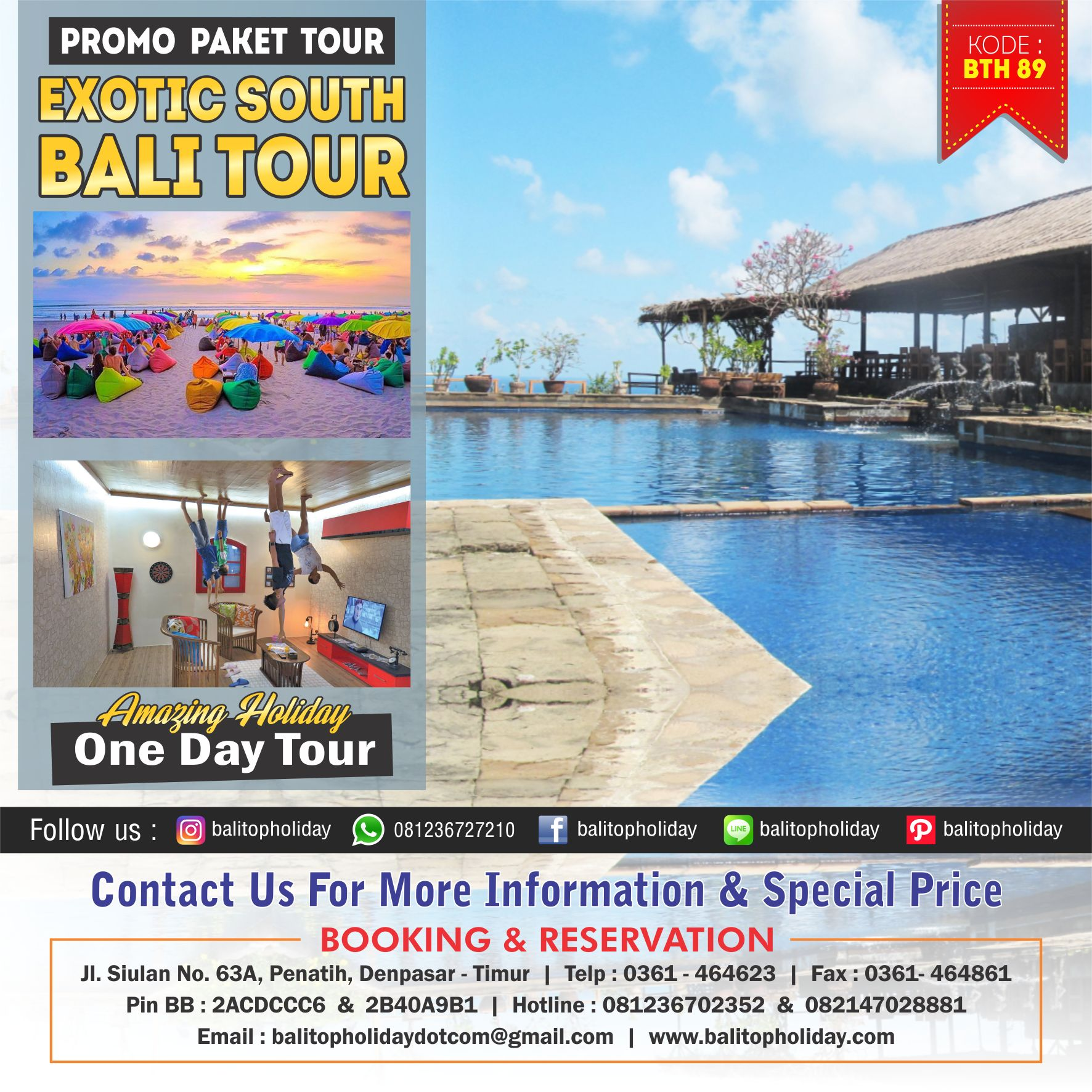 Exotic South Bali Tour BTH 89