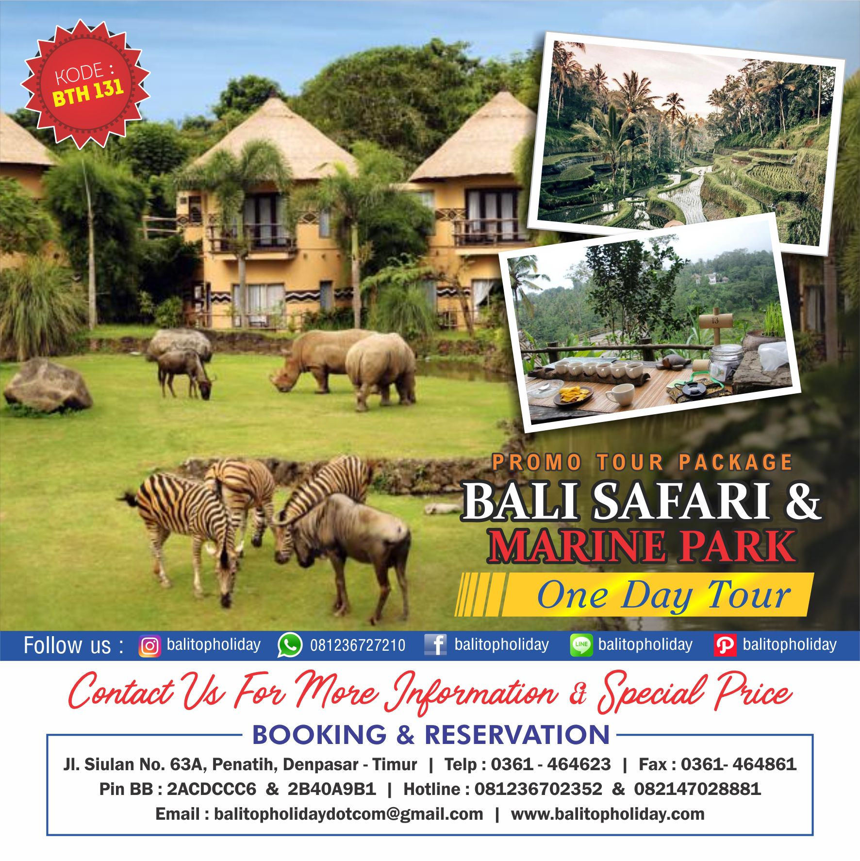 Bali safari One Day Tour BTH 131