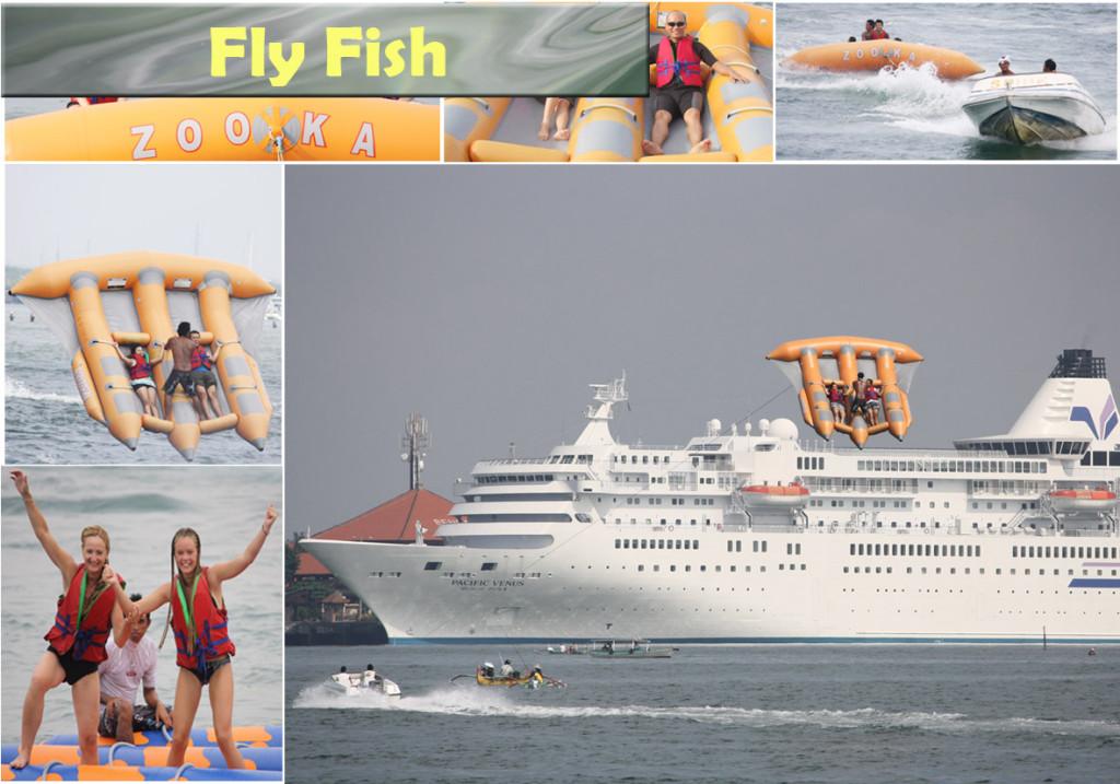 bermain flying fish di bali