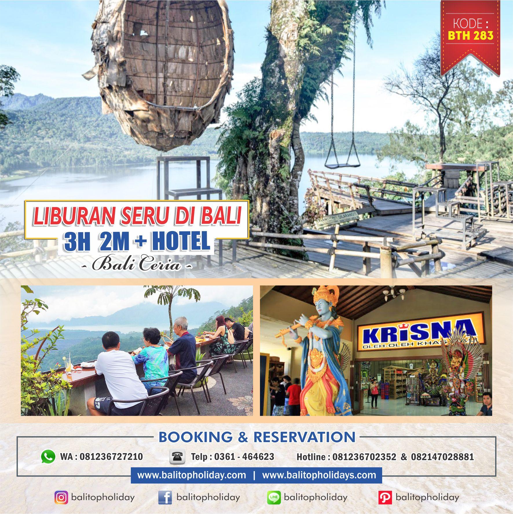 Paket Tour Bali 3 hari 2 malam (dengan hotel)