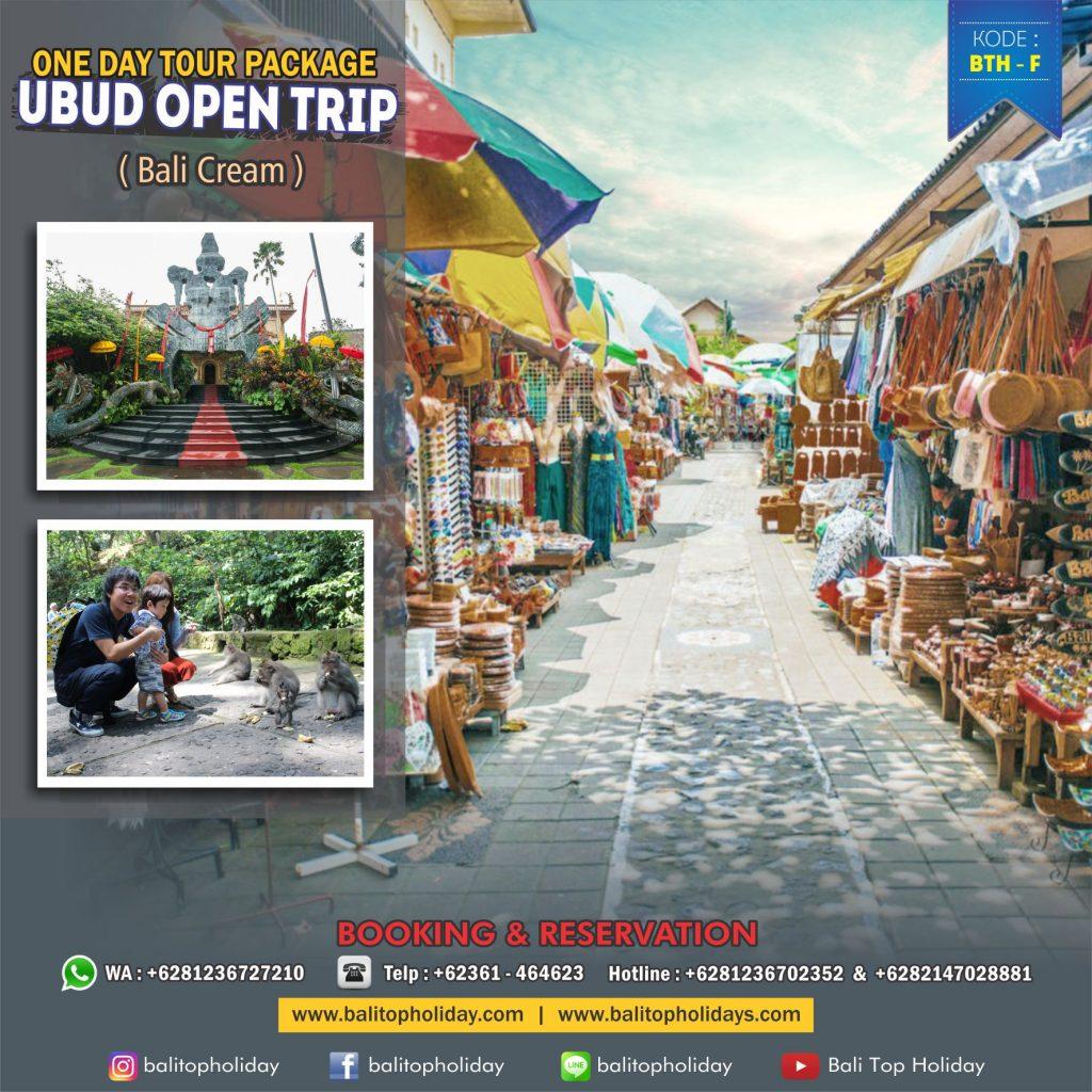 Itinerary Bali - Paket tour Ubud 1 hari