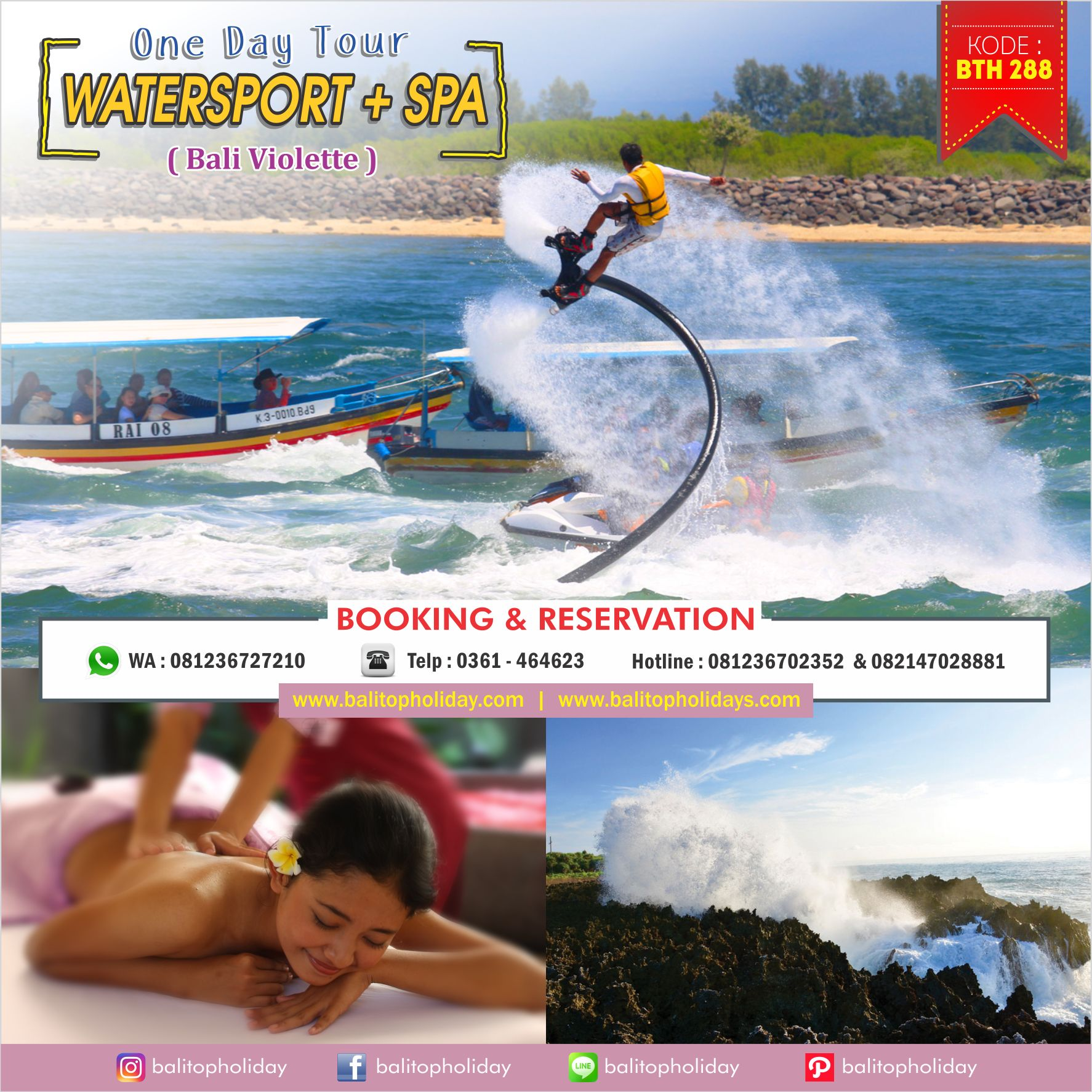 Paket Tour Watersports Bali & Spa