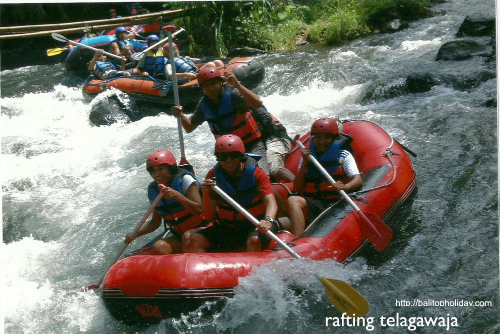 Rafting Sungai Telaga waja Karangasem Bali