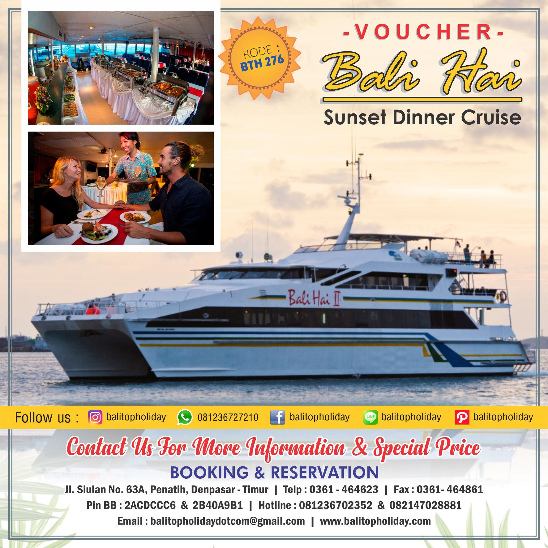 voucher bali hai sunset dinner cruise