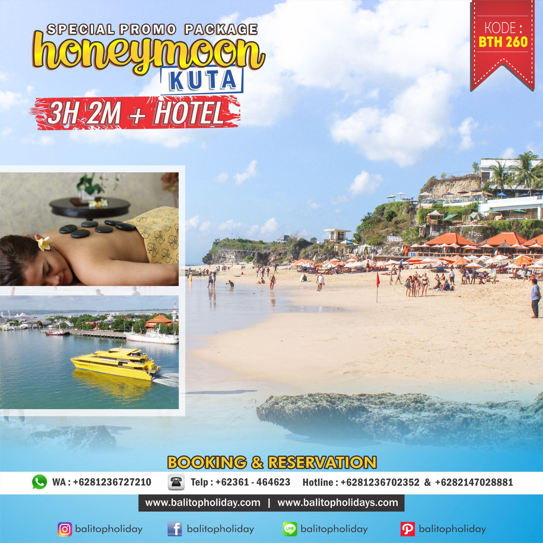 Paket Honeymoon Kuta Bali 3 hari 2 malam