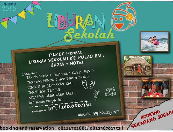 Paket Liburan Sekolah ke Bali