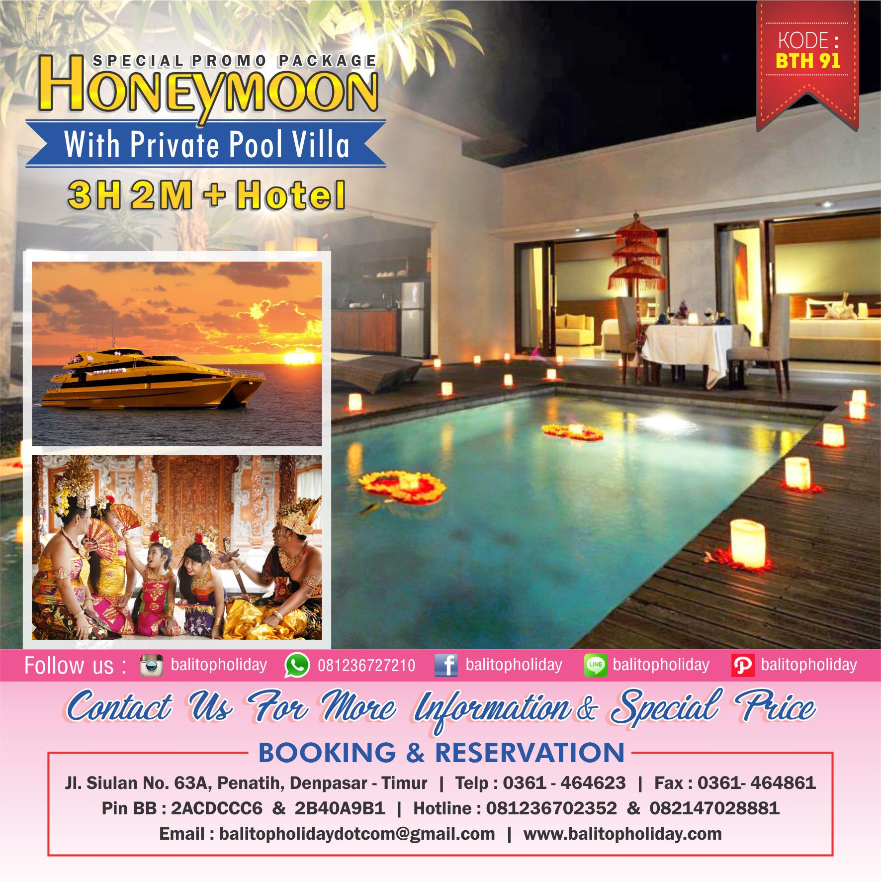 Honeymoon With Private Pool Villa BTH 91