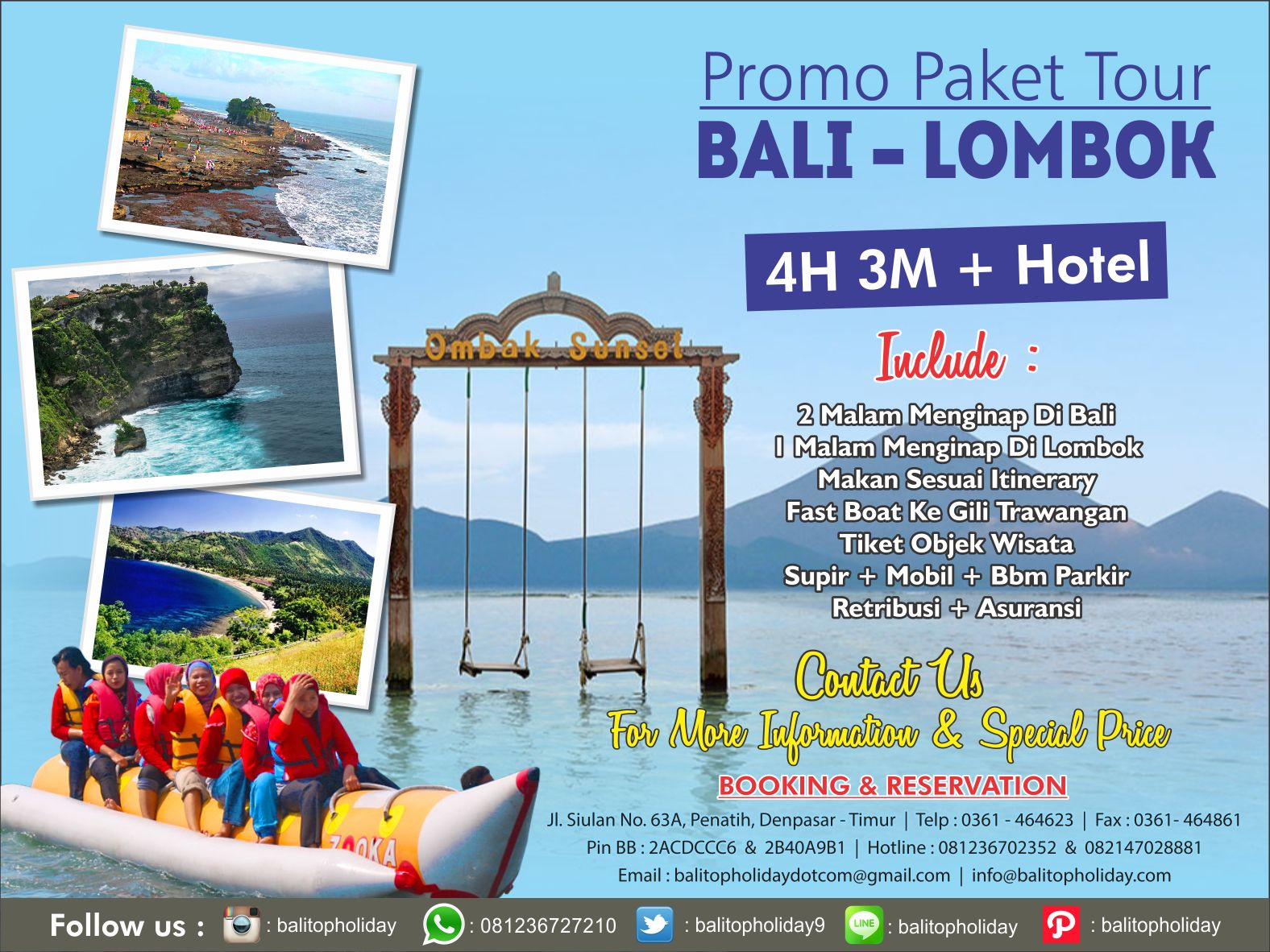 Paket Wisata Bali Lombok 4 Hari 3 Malam Murah Hemat