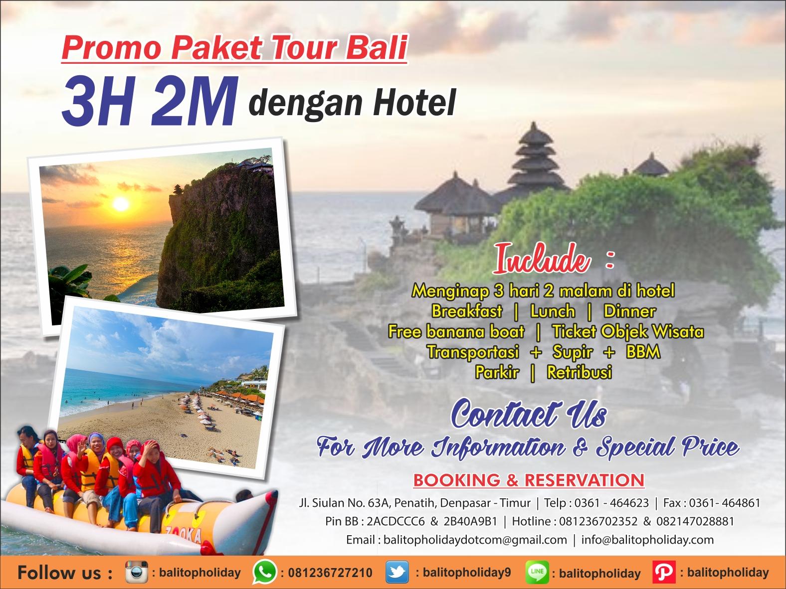 Paket Tour Bali 3 Hari 2 Malam (tanpa hotel)