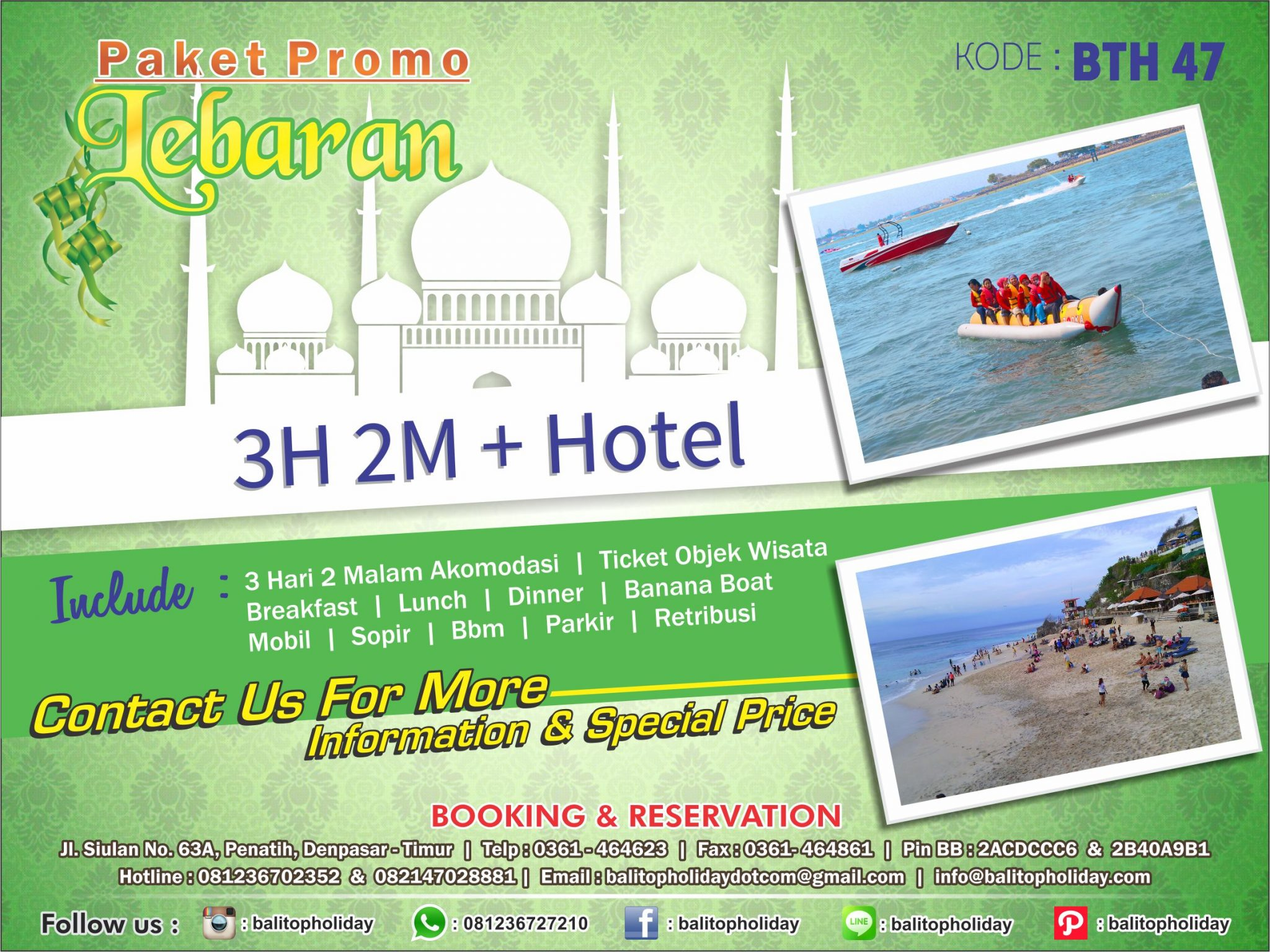Promo Paket Tour Lebaran 2020 di Bali