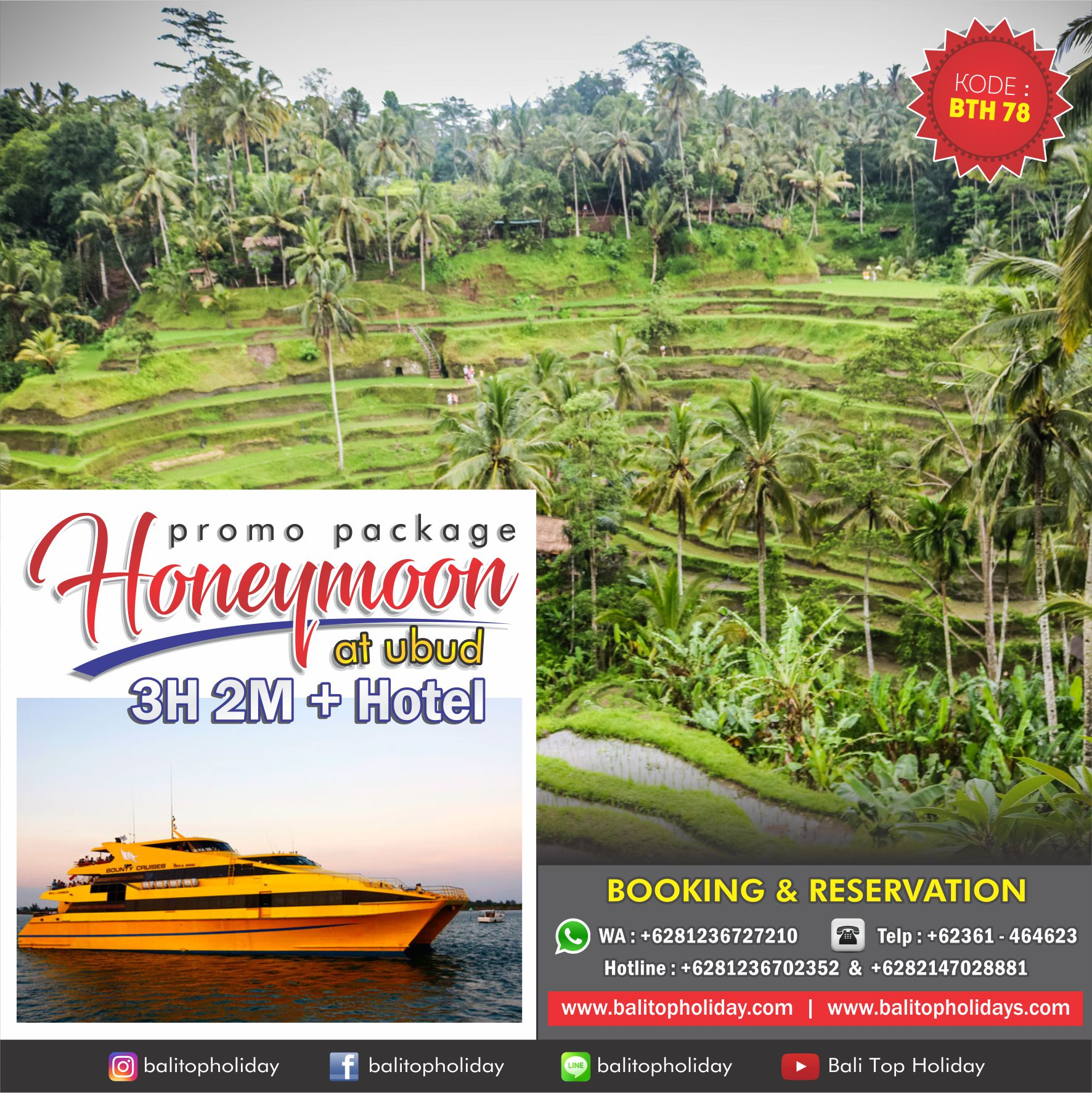 Paket Honeymoon Ubud 3H2M