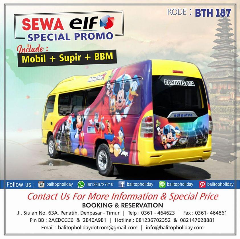 Sewa Elf di Bali (Elf Short 13 Seat dan Long 18 Seat)