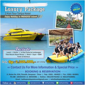 Paket Tour 3 Hari + Cruise (Luxury Bali Packages)