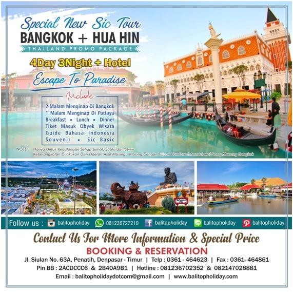 Paket tour Bangkok + Huahin
