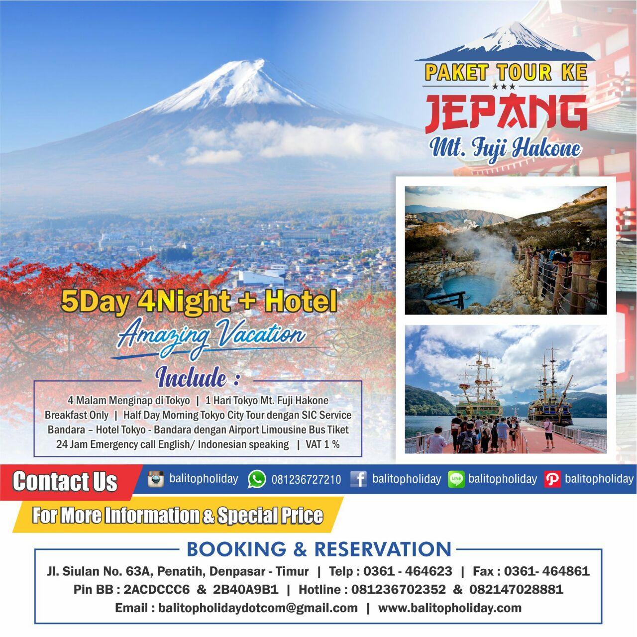 Paket Jepang 5D4N Fuji
