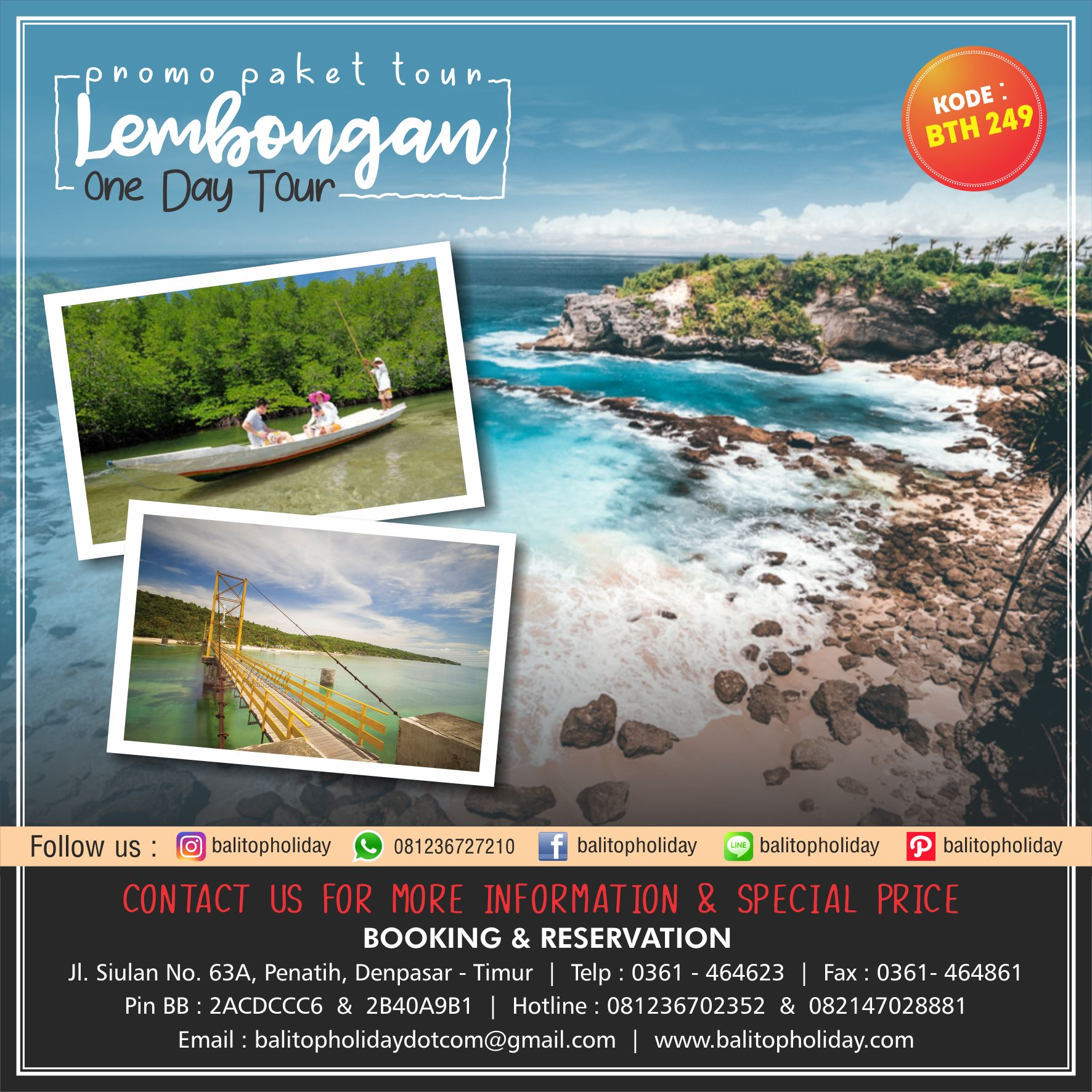 Lembongan One Day Tour BTH 249
