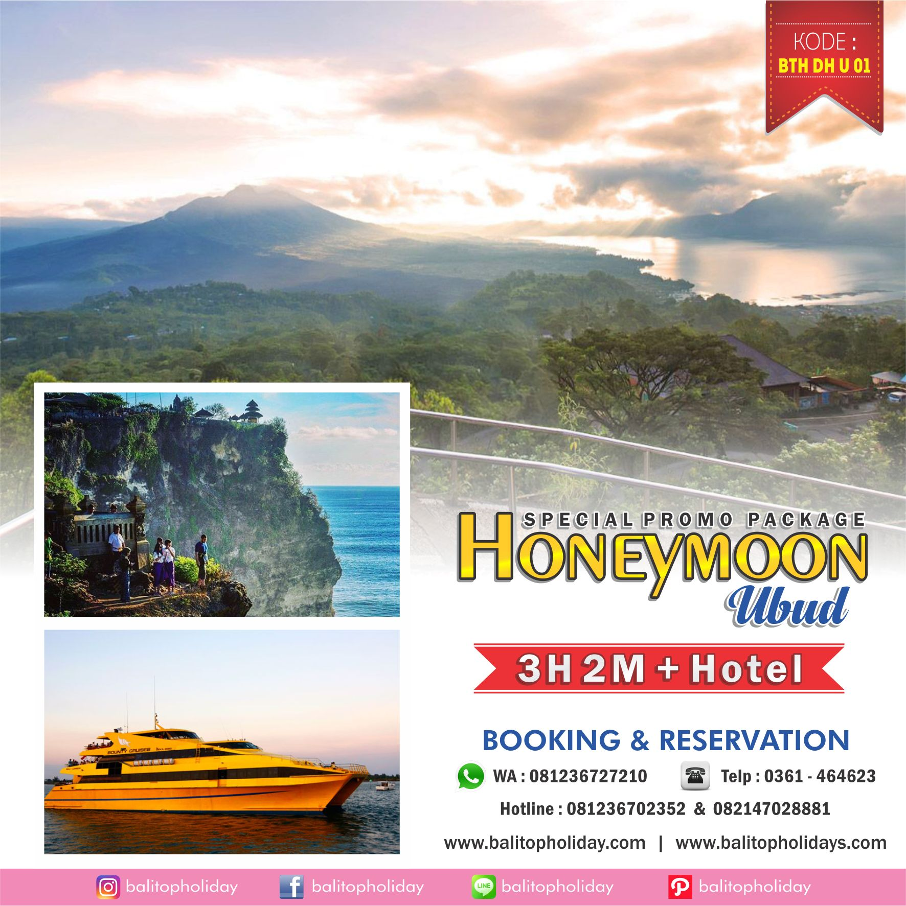 Paket Bulan Madu Bali 3 Hari