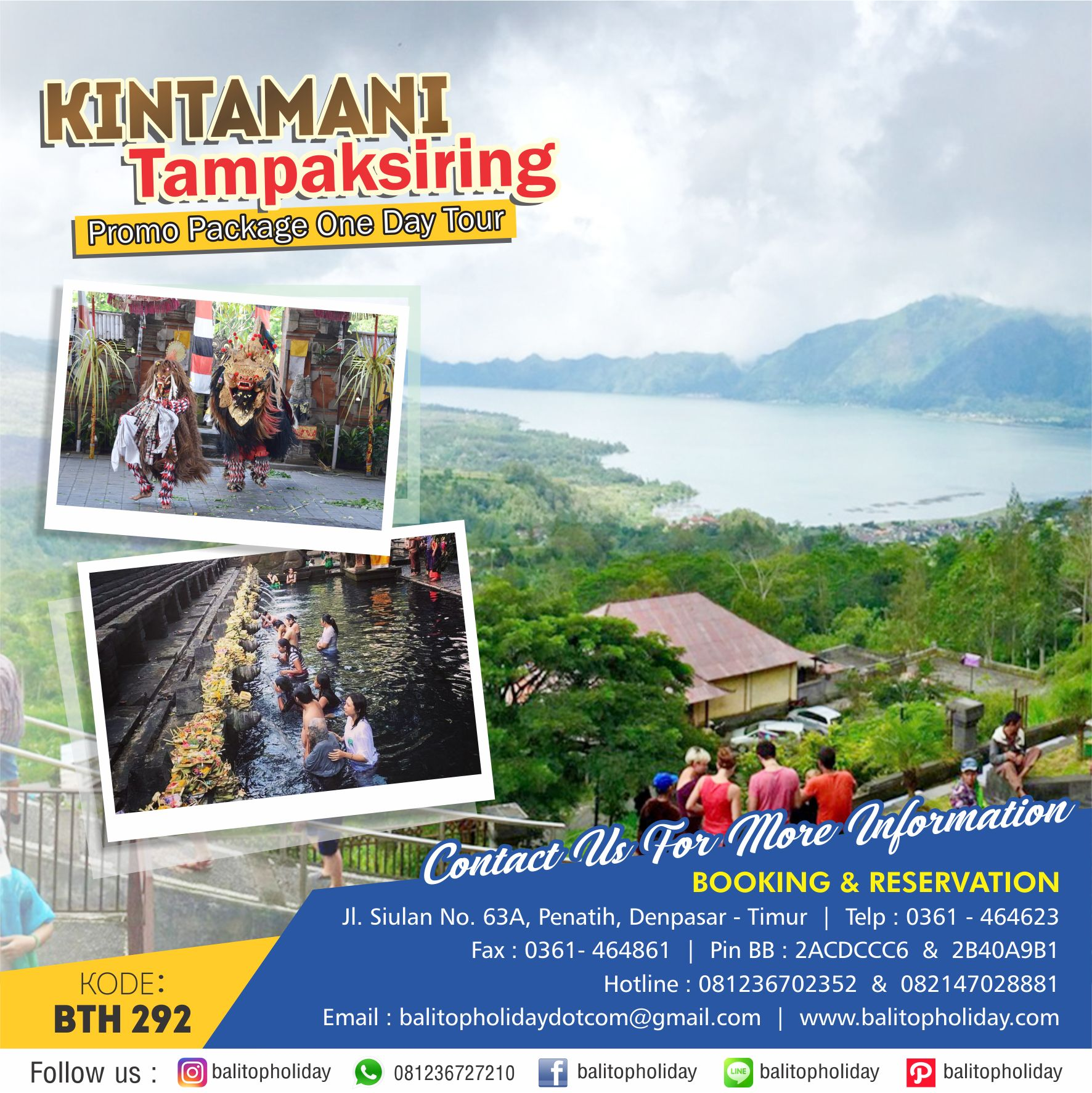 Kintamani Tampaksiring One Day Tour BTH 292