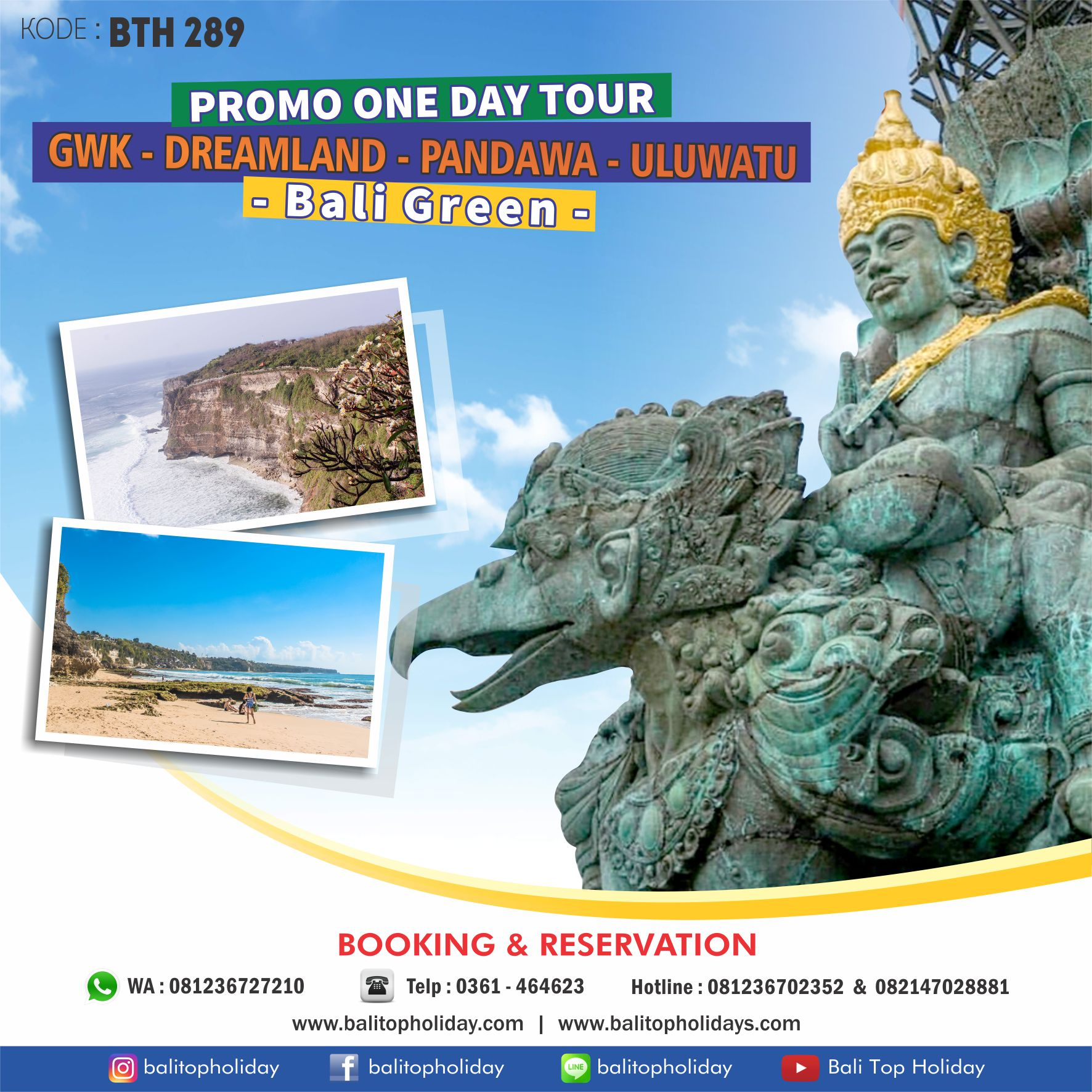 Paket Tour GWK,Pandawa & Uluwatu