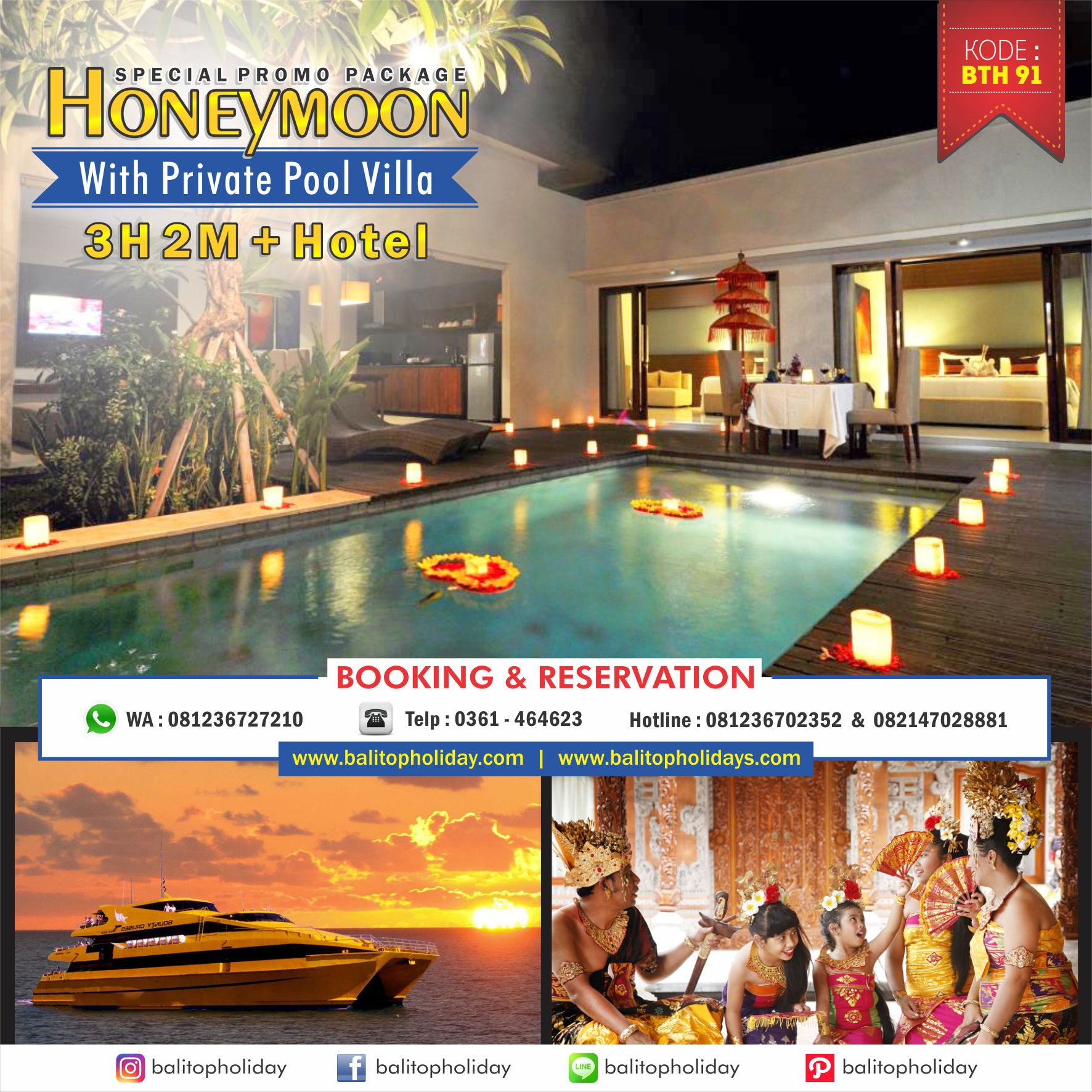 Paket Honeymoon Bali Dengan Private Pool Villa