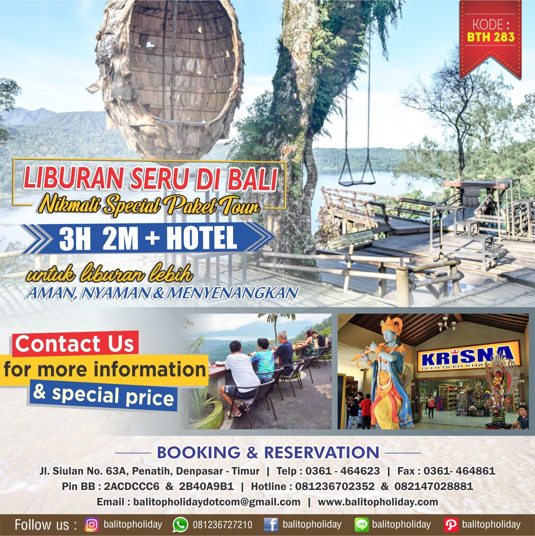 Paket Tour Bali 3 Hari 2 Malam Opsi C BTH 283