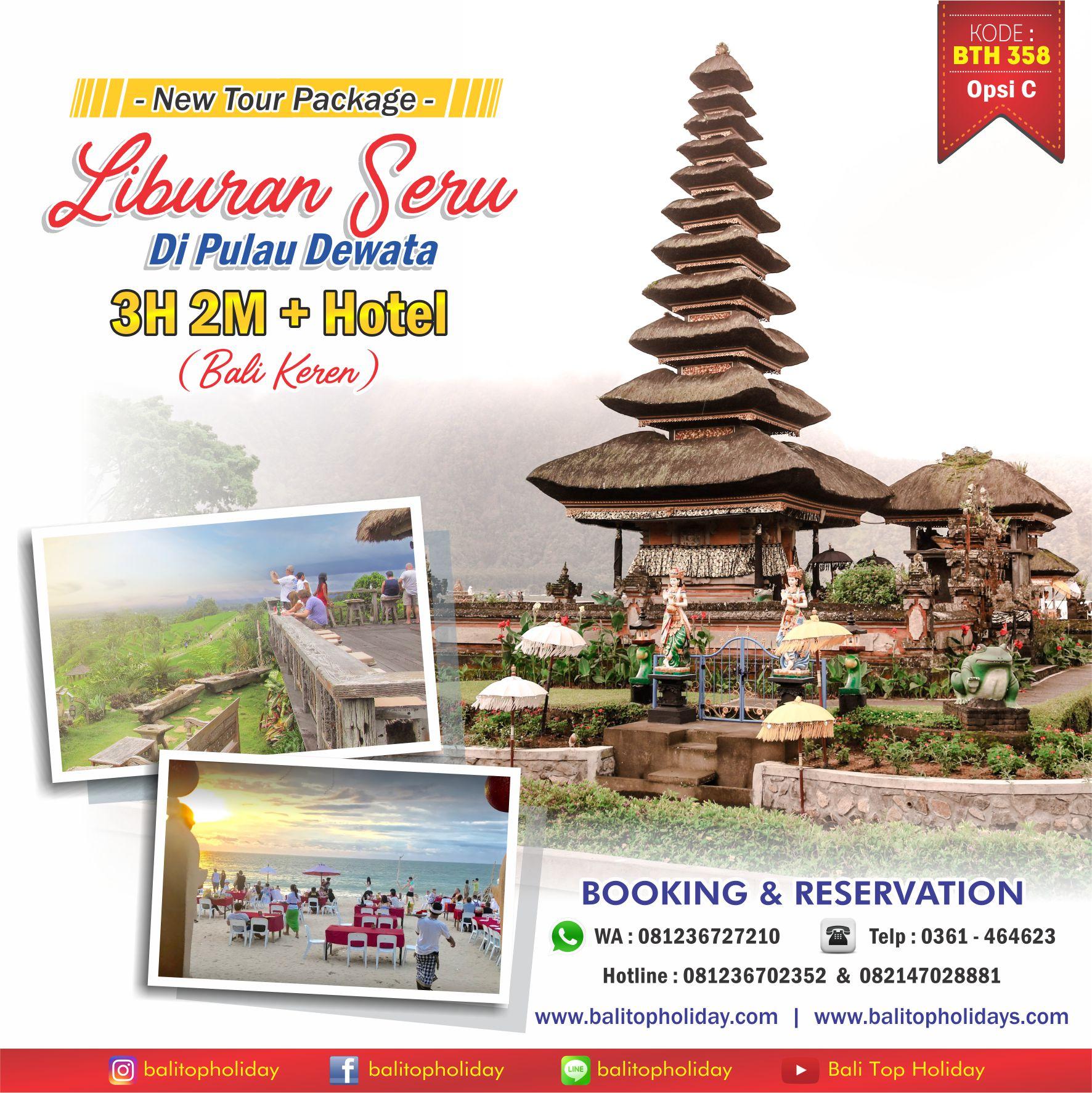 Paket tour Bali 3 Hari 2 Malam Bali Keren