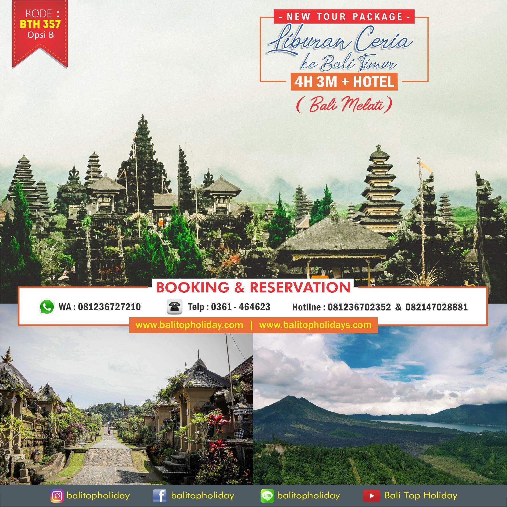 Paket Tour Bali 4H3M (Bali Melati)