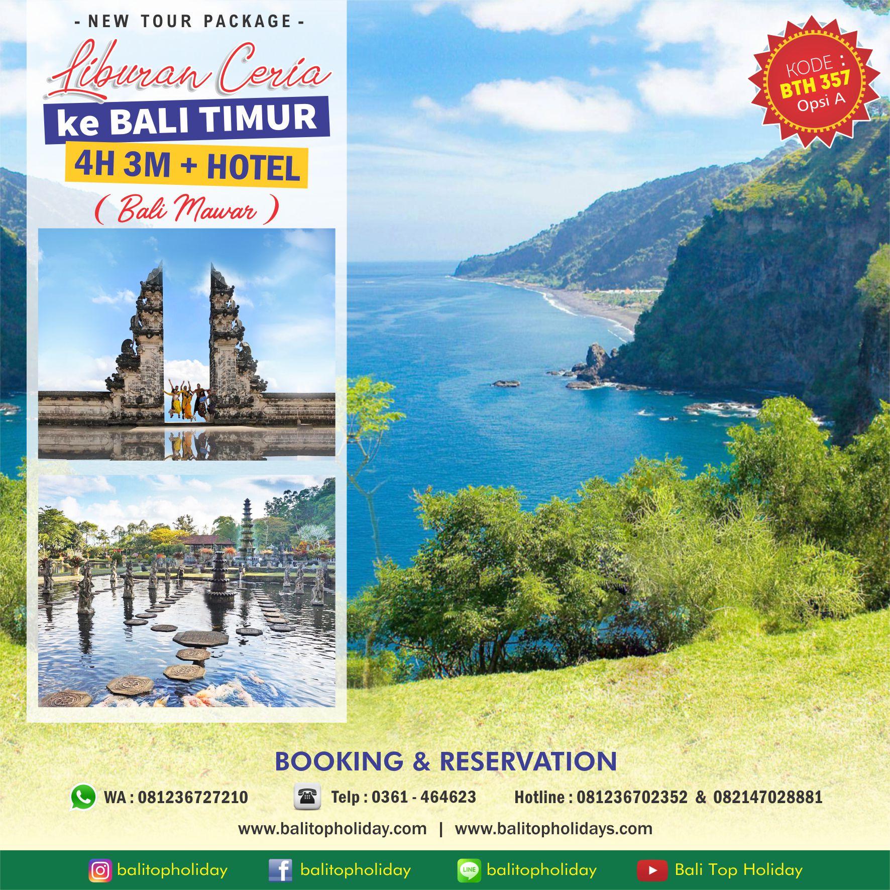 Paket Tour Bali Timur 4H/3M (Bali Mawar)