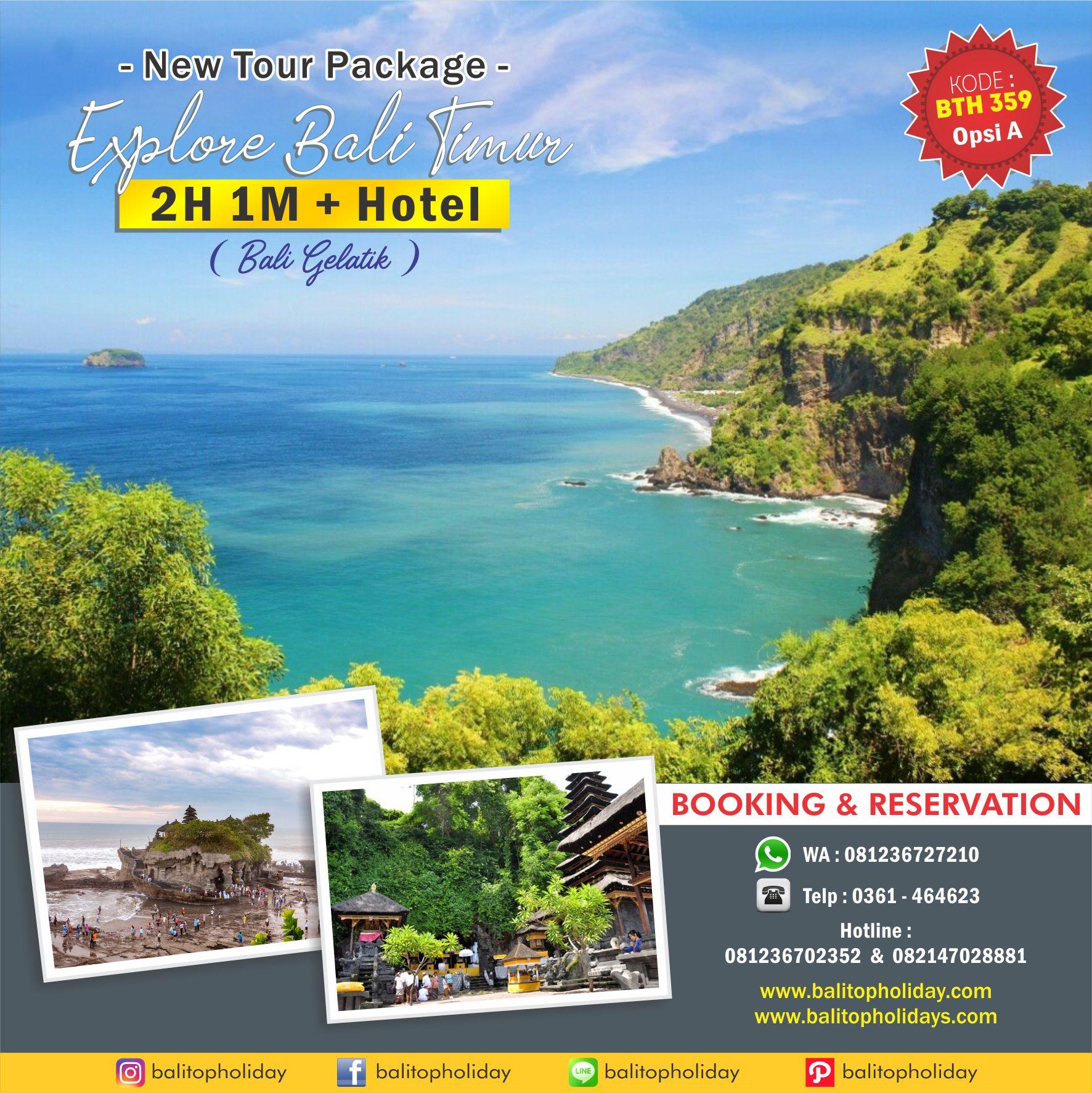 Paket Tour 2 Hari 1 Malam Explore Bali Timur