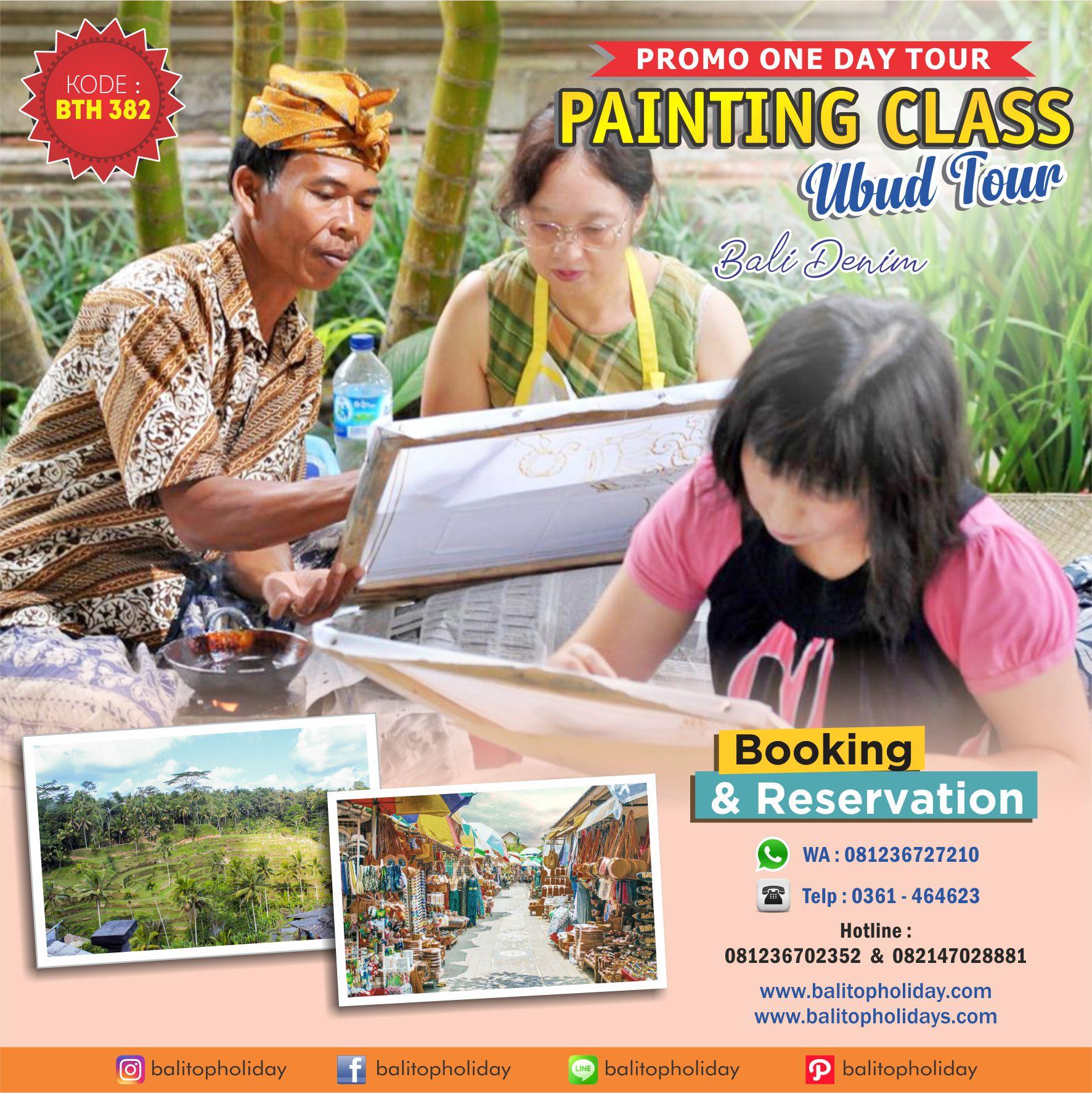 Tour ubud & painting class