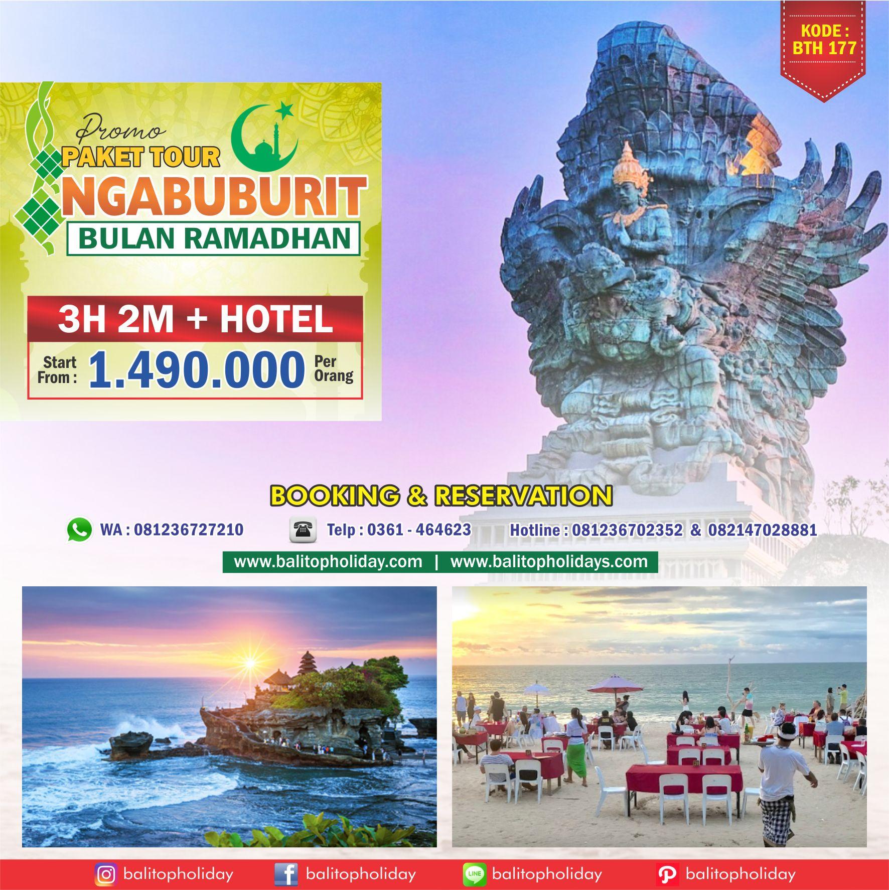 Paket tour Bali Ramadhan / puasa 2019