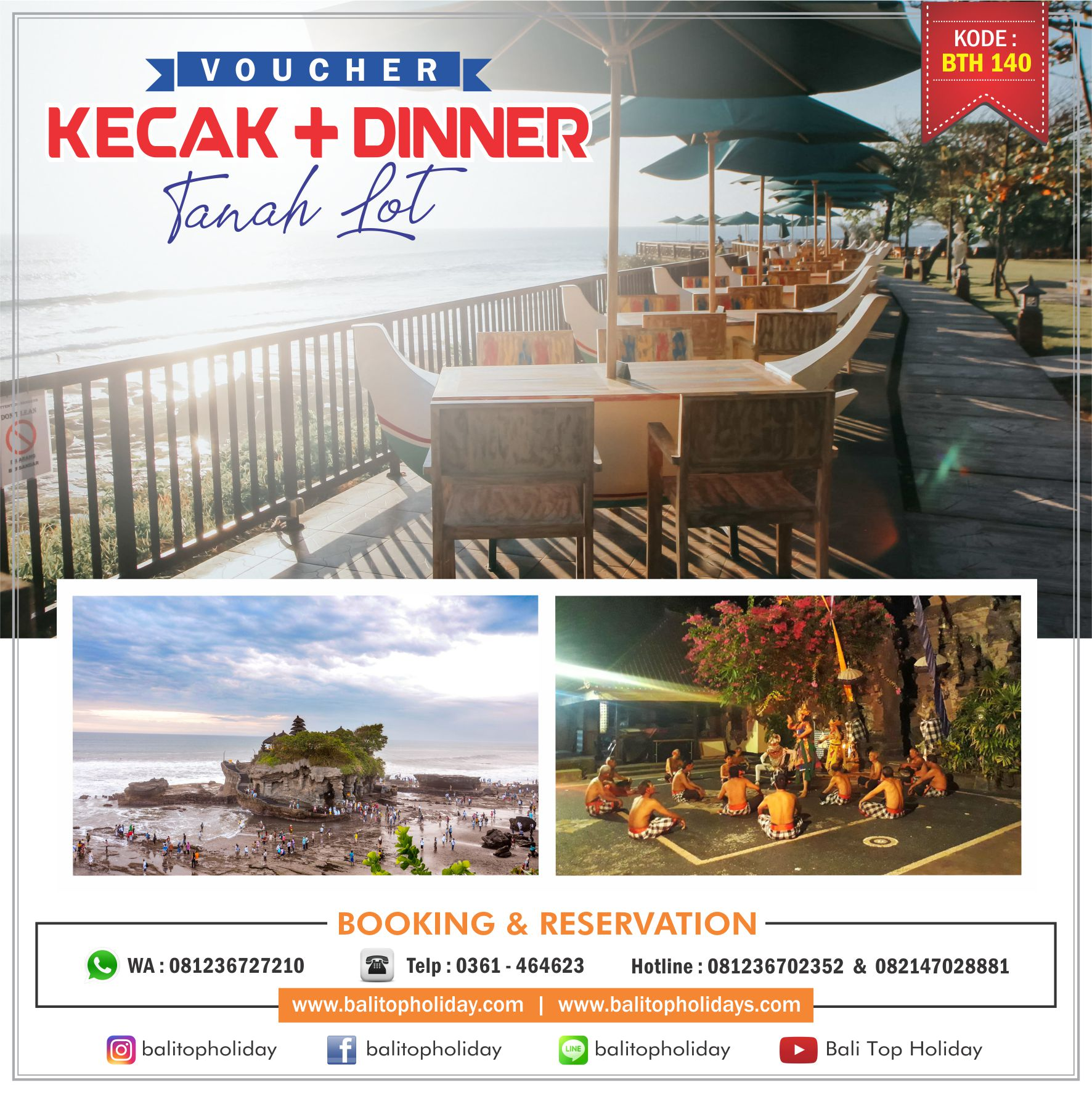 Paket Tour Kecak Tanah Lot