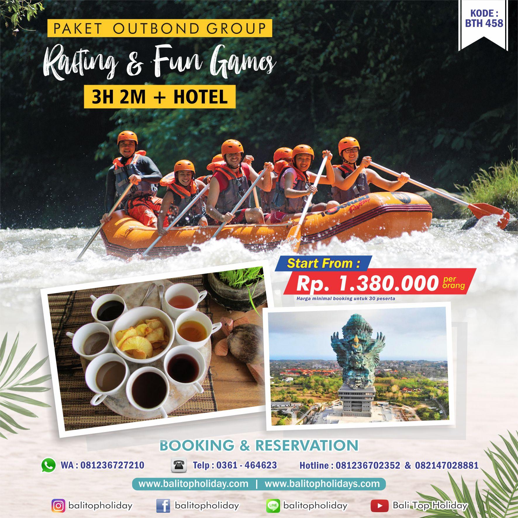 Paket Outbond di Bali Rafting Ayung + Fun Games