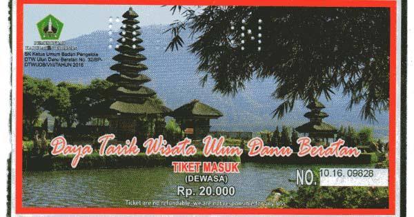 Tiket Masuk Obyek Wisata di Bali
