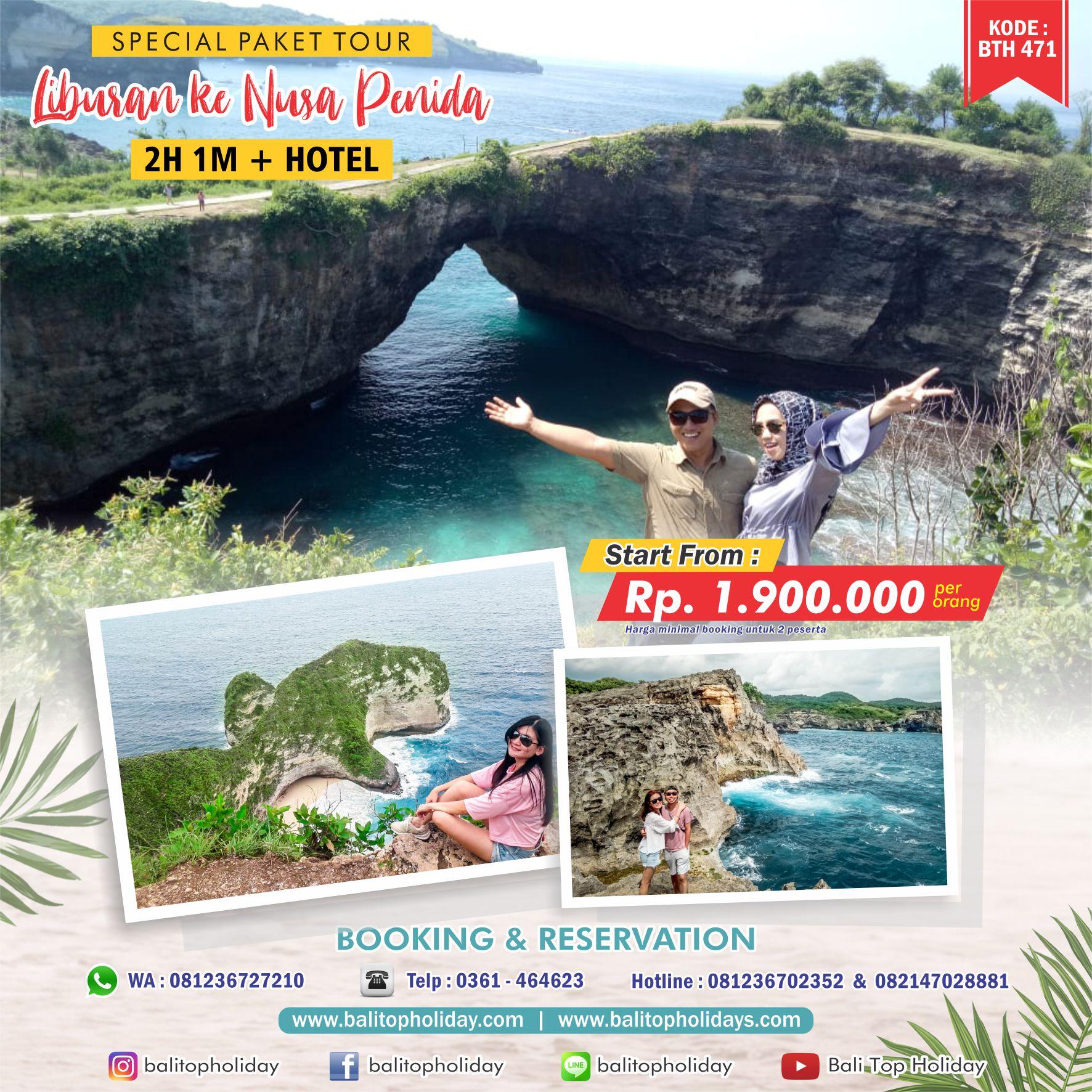 Paket Tour Nusa Penida 2 Hari 1 Malam